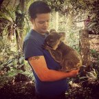 Getting that all important Koala selfie…..